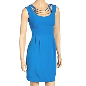 Laura Petites Sleeveless Blue Dress Size 10P